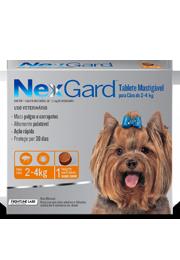 Nexgard - Antipulgas e Carrapatos para Cães de 2 a 4kg