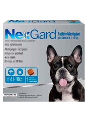 Nexgard - Antipulgas e Carrapatos para Cães de 4,1 a 10kg