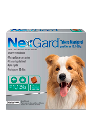 Nexgard - Antipulgas e Carrapatos para Cães de 10,1 a 25kg