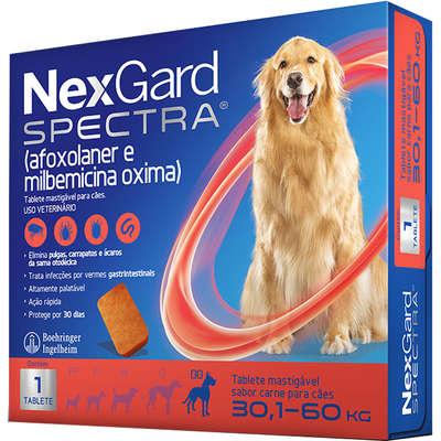 Nexgard Spectra - Antipulgas e Carrapatos para Cães de 30,1 a 60kg