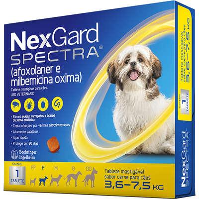 Nexgard Spectra - Antipulgas e Carrapatos para Cães de 3,6 a 7,5kg