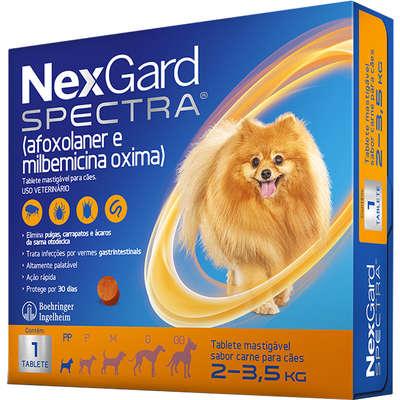 Nexgard Spectra - Antipulgas e Carrapatos para Cães de 2 a 3,5kg